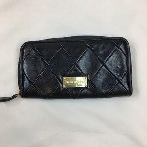 Steve Madden Faux Leather Diamond Clutch Wallet